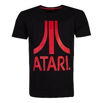 Atari Red logo tricou de sex masculin mare negru (TS046262ATA-L)