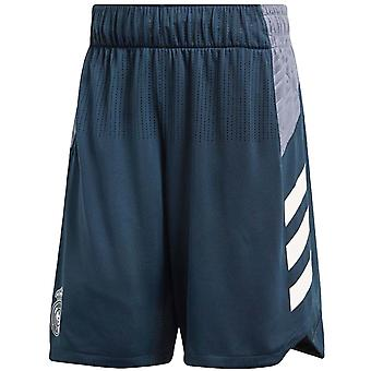 adidas Performance Mens Real Madrid Football Sports Training Game Shorts - Grey