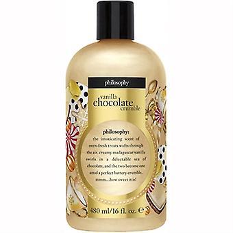 Philosophie Vanille Schokolade Crumble Shampoo, Duschgel & Bubble Bad 16oz / 480ml