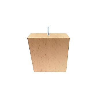 Wooden angled Furniture Leg 8 cm (M10)