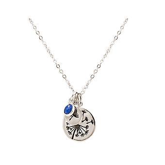Gemshine Alpin Løvetann Pusteblume 925 sølv, forgylt eller Rose-Sapphire
