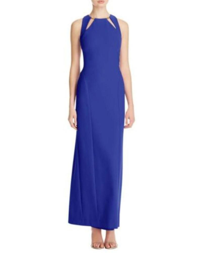 Nicole Miller Cutout Keyhole Gown Formal Dress