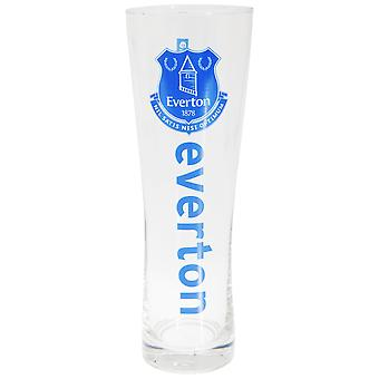 Everton FC Official Wordmark Football Crest Peroni Pint Glass