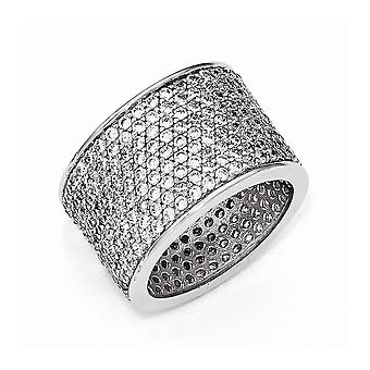Cheryl M 925 Sterling Argent CZ Cubic Zirconia Simulated Diamond Ring Jewelry Gifts for Women - Ring Taille: 6 à 8