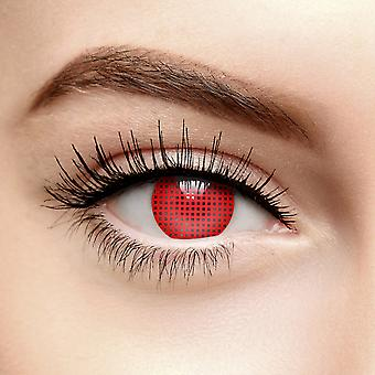 Red Mesh Colored Contact Lenses (Daily)