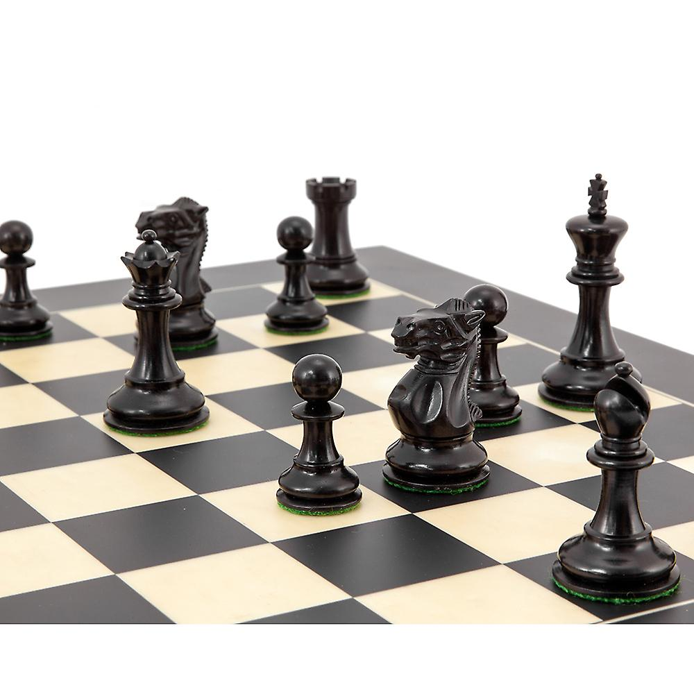 Highgrove Series Ebony Staunton Chess Pieces 3 Inches