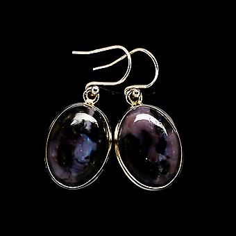 "Gabbro Earrings 1 3/8"" (925 Sterling Silver)  - Handmade Boho Vintage Jewelry EARR396057"