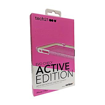 Tech21 Evo Check Active Edition Case for iPjhone 8 Plus, iPhone 7 Plus - Pink