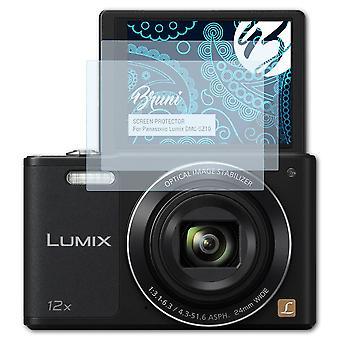 Bruni 2x Schutzfolie kompatibel mit Panasonic Lumix DMC-SZ10 Folie