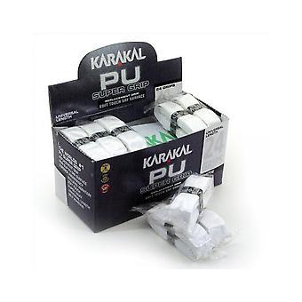 Karakal PU Super Grip Badminton Tennis Squash Racket Grips x 24 - White