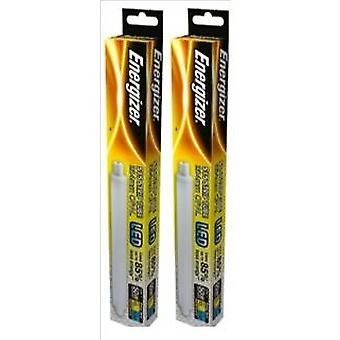 2 X Energizer LED Strip Energy Saving Lightbulb S15 5.5w = 50w 550lm Warm White[Energy Class A+]