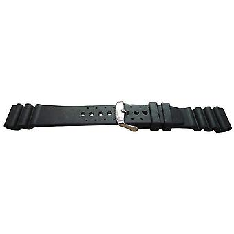 Diving watch strap iso swiss, vulcanized rubber nya 18mm