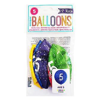 Fiesta única 5 globos de látex perlado (5 x paquete de 5)