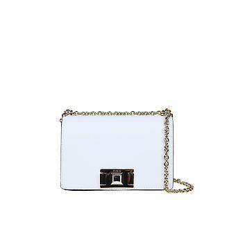 Furla 1031803 Women's White Leather Shoulder Bag