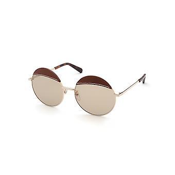 Loewe LW40007U 33N Gold/Light Brown Sunglasses