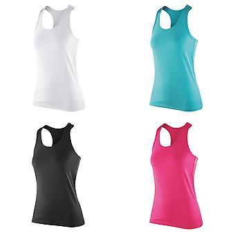 Spiro kvinners/damer innvirkning Softex ermeløse Fitness Vest topp