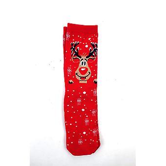 Meias Natal stl vermelho 30-36 2-pack