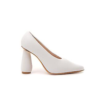 Jacquemus 194fo0419477100 Women's White Leather Pumps