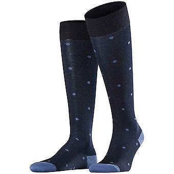 Falke Dot Meias de joelho-alto - Dark Navy/Blue Claro