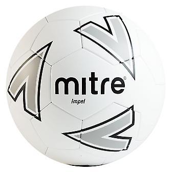 Mitre Impel Training Football Soccer Ball White/Silver/Black