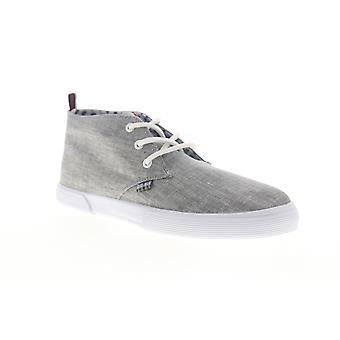 Ben Sherman Bristol Chukka Mens Grå Canvas Låg Top Sneakers Skor