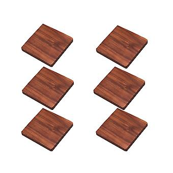 6 PCS Black Walnut Coaster