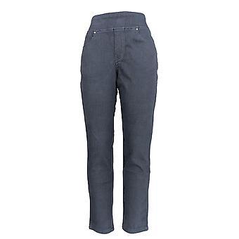 Belle by Kim Gravel Women's Jeans Pull On Knit Jeggings Black A283921