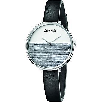 Calvin Klein women's Quartz Analog leather strap K7A231C3