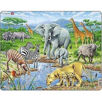 Larsen Jigsaw Puzzle - African Savannah, 65 Piece