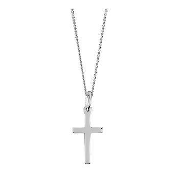 Orton West eenvoudige Kruis hanger - zilver