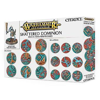 Age of Sigmar Shattered Dominion 25 & 32mm Round BasesCitadel, Warhammer 40k