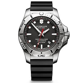 Victorinox Swiss Army I.N.O.X Professional Diver Black Quartz Mens Watch 241733