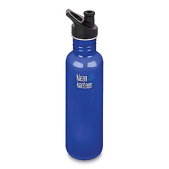 Klean Kanteen Classic 800ml drinks bottle with Sport Cap 3.0 - Blue Planet
