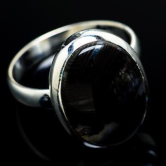 Psilomelane Ring Size 9.25 (925 Sterling Silver)  - Handmade Boho Vintage Jewelry RING7799