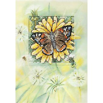 Orchidea Cross Stitch Card Kit - Butterfly and Dandelions