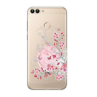 هال ل Huawei P الذكية 2018 الزهور مرنة والفراشات