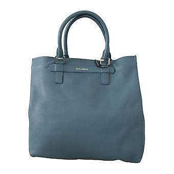 Blue mens shoulder purse hand tote borse leather