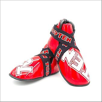 Top ten superlight glossy kicks red/white