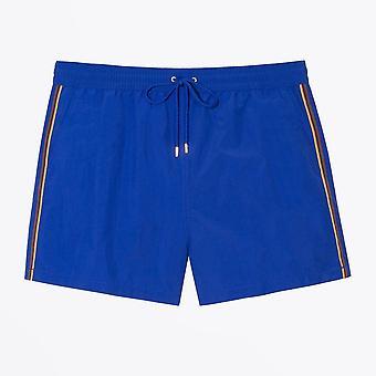 Paul Smith  - 'Artist Stripe' Swim Shorts - Blue
