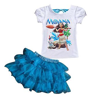 Girls Moana Short Sleeve Top And Shorts, Design 4
