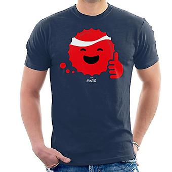Coca Cola zoals smiley fles Cap mannen ' s T-shirt