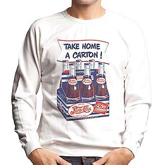 Pepsi Cola Retro nehmen Nach Hause Karton Men's Sweatshirt