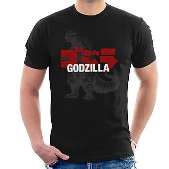 Godzilla Classic Comic Kanji Logo Men's T-Shirt
