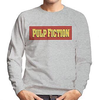 Pulp Fiction Classic Film Logo Red And Yellow Men's Sweatshirt