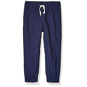Brand - Spotted Zebra Boy's Woven Lined Jogger Pants, Navy, Large (10)