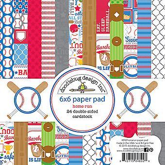 Doodlebug Design Home Run 6x6 Inch Paper Pad