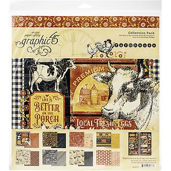 Graphic 45 Farmhouse 12x12 Inch Collection Pack