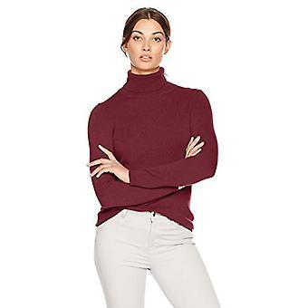 Lark & Ro Frauen's Turtleneck Pullover Kaschmir Pullover, Traube, klein