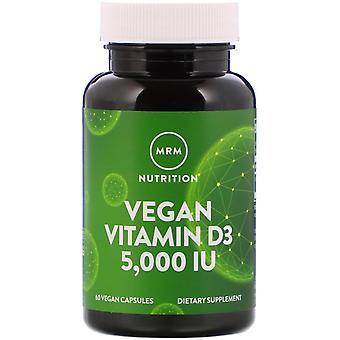 MRM, Vegan Vitamin D3, 5,000 IU, 60 Vegan Capsules