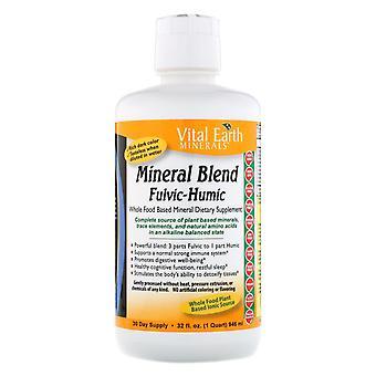 Vital Earth Minerals, Mineral Blend Fulvic-Humic, 32 fl oz (946 ml)